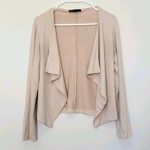 Seven Sisters - Faux Suede Waterfall Cardigan